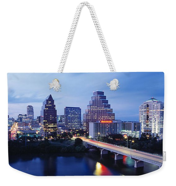 Night, Austin, Texas, Usa Weekender Tote Bag