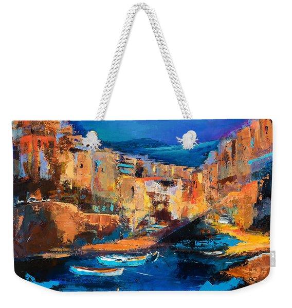 Night Colors Over Riomaggiore - Cinque Terre Weekender Tote Bag