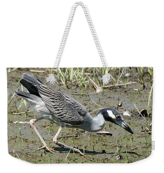 Night Heron Feeding Weekender Tote Bag