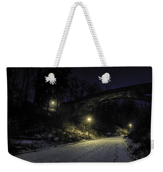 Night Hushed The Shadowy Earth Weekender Tote Bag