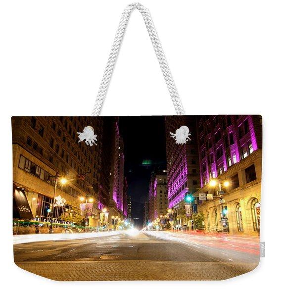 Night Life Weekender Tote Bag