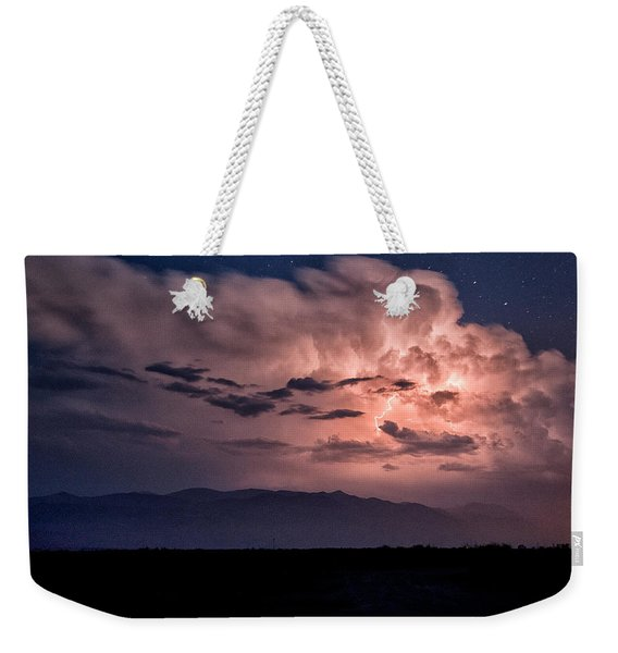 Night Lightning Weekender Tote Bag