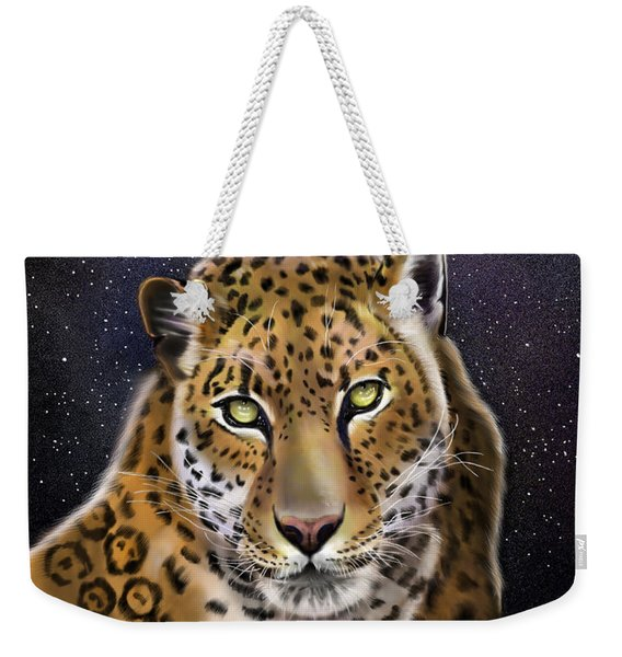 Fourth Of The Big Cat Series - Leopard Weekender Tote Bag