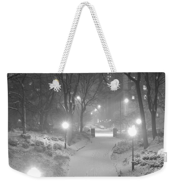 Night Storm New York Weekender Tote Bag