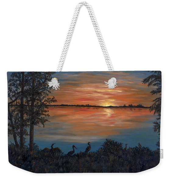Nightfall At Loxahatchee Weekender Tote Bag