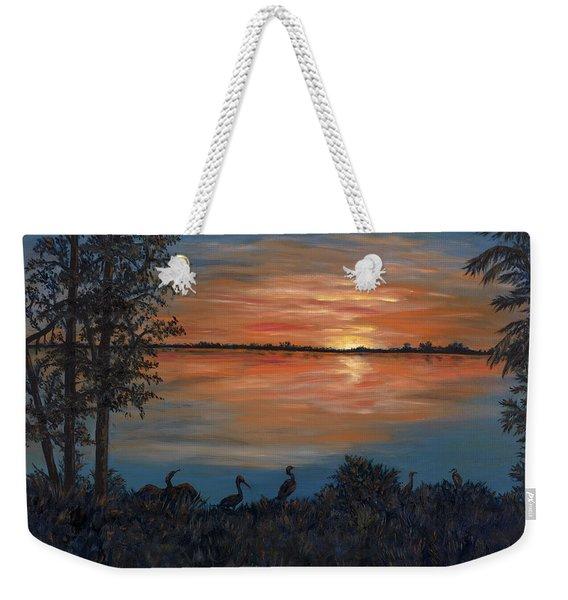 Nightfall At Loxahatchee Weekender Tote Bag