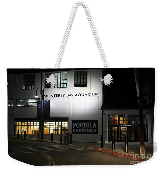 Nightfall At The Monterey Bay Aquarium On Monterey Cannery Row California 5d25177 Weekender Tote Bag