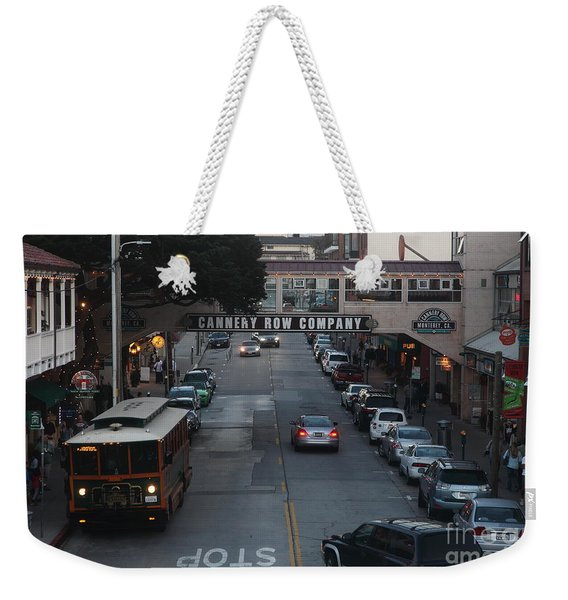 Nightfall Over Monterey Cannery Row California 5d25143 Weekender Tote Bag