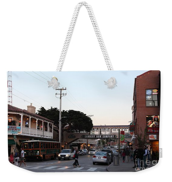 Nightfall Over Monterey Cannery Row California 5d25144 Weekender Tote Bag