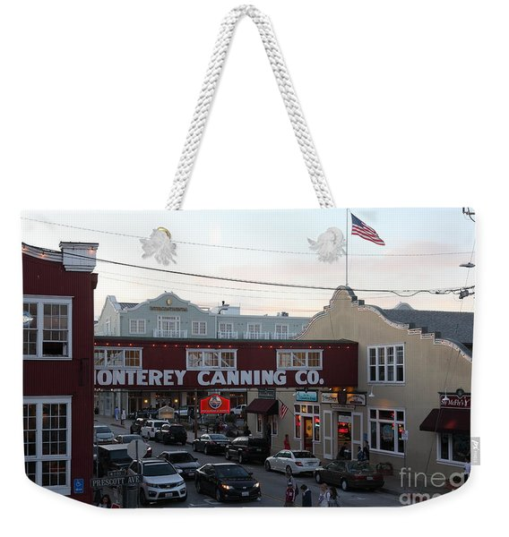 Nightfall Over Monterey Cannery Row California 5d25148 Weekender Tote Bag
