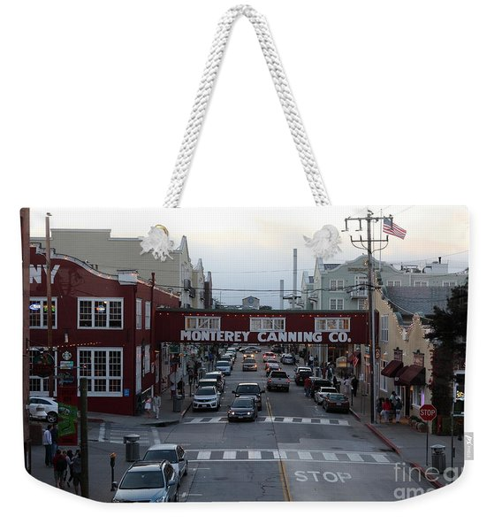 Nightfall Over Monterey Cannery Row California 5d25149 Weekender Tote Bag