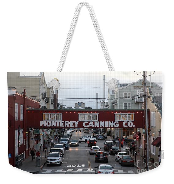 Nightfall Over Monterey Cannery Row California 5d25153 Weekender Tote Bag