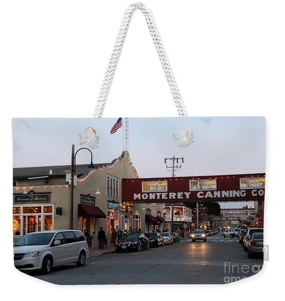 Nightfall Over Monterey Cannery Row California 5d25167 Weekender Tote Bag
