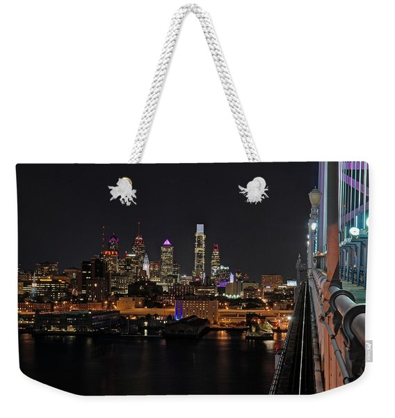 Nighttime Philly From The Ben Franklin Weekender Tote Bag