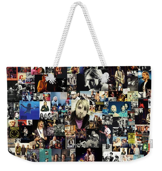 Nirvana Collage Weekender Tote Bag