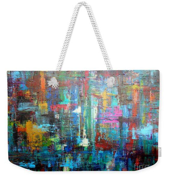 Weekender Tote Bag featuring the painting No. 1230 by Jacqueline Athmann