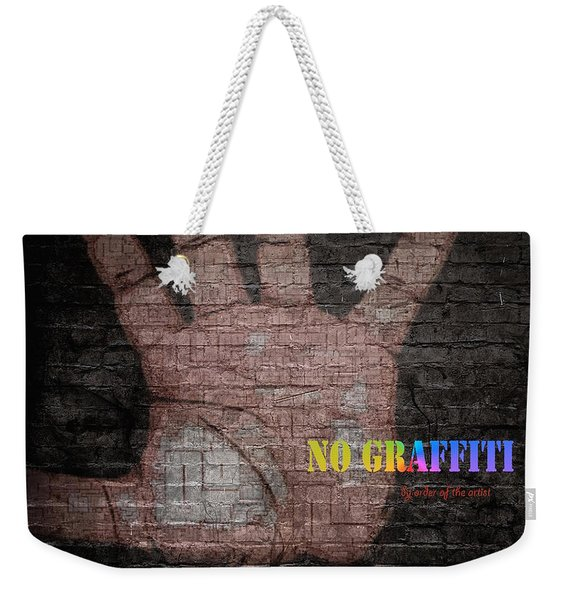 Weekender Tote Bag featuring the digital art No Graffiti by ISAW Company