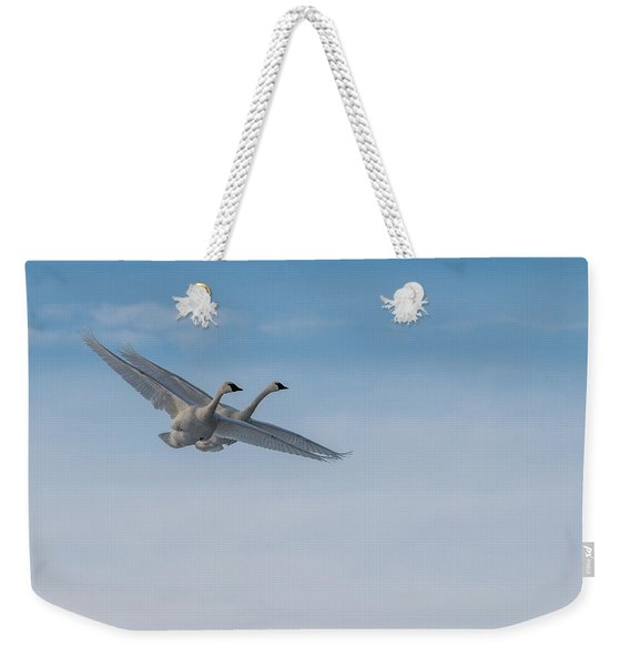 Trumpeter Swan Tandem Flight I Weekender Tote Bag