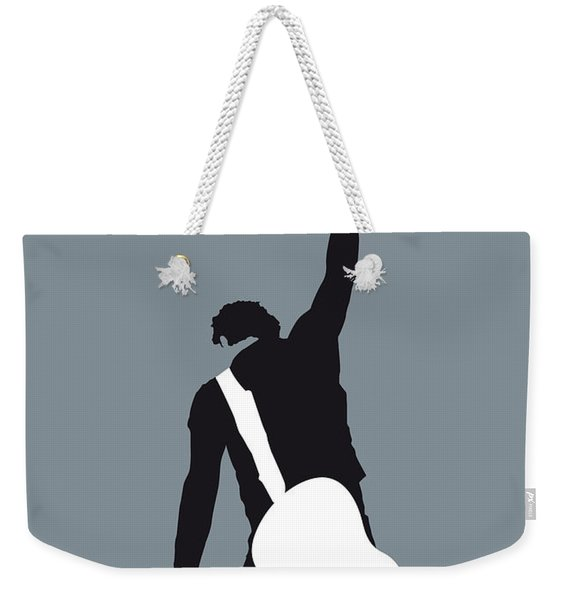 No017 My Bruce Springsteen Minimal Music Poster Weekender Tote Bag