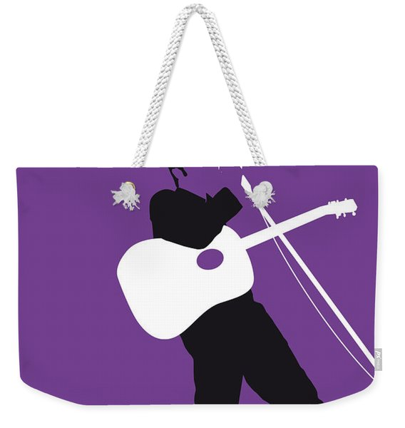No021 My Elvis Minimal Music Poster Weekender Tote Bag