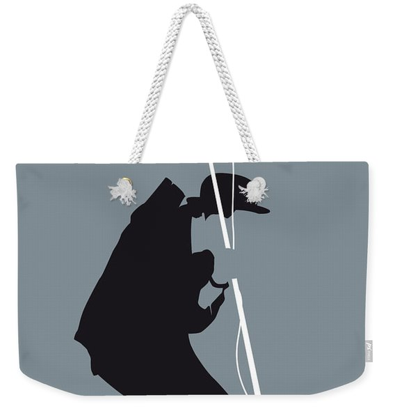 No037 My Tom Waits Minimal Music Poster Weekender Tote Bag