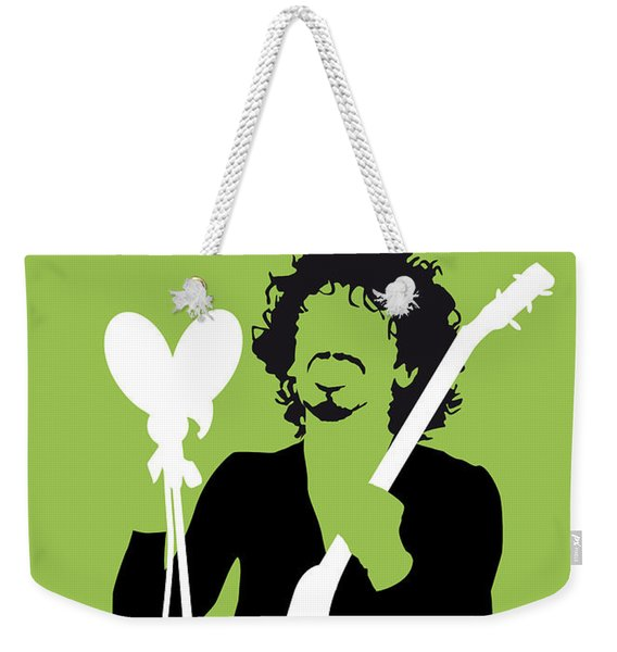 No046 My Santana Minimal Music Poster Weekender Tote Bag