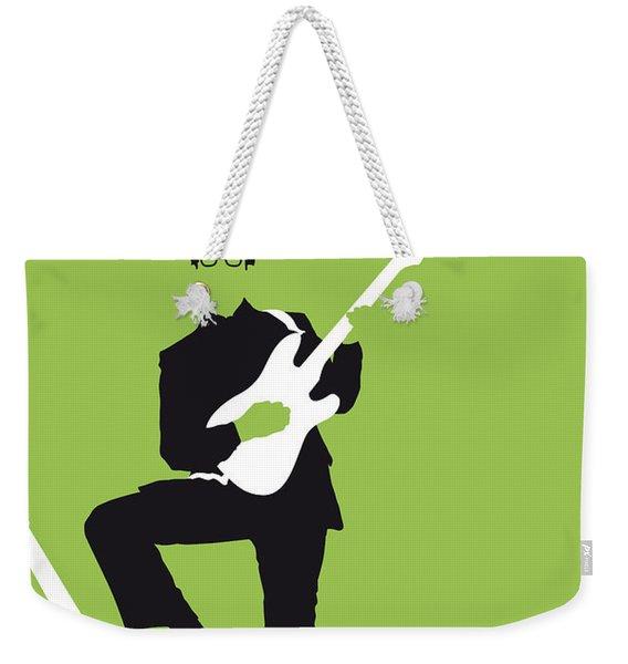 No056 My Buddy Holly Minimal Music Poster Weekender Tote Bag