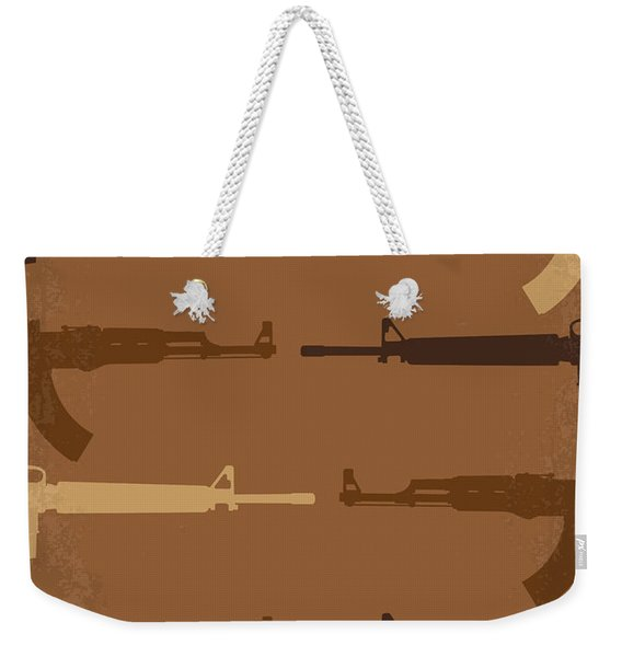 No115 My Platoon Minimal Movie Poster Weekender Tote Bag