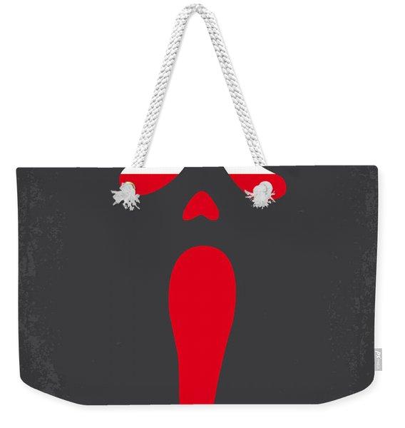 No121 My Scream Minimal Movie Poster Weekender Tote Bag