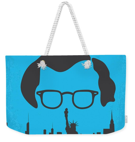 No146 My Manhattan Minimal Movie Poster Weekender Tote Bag