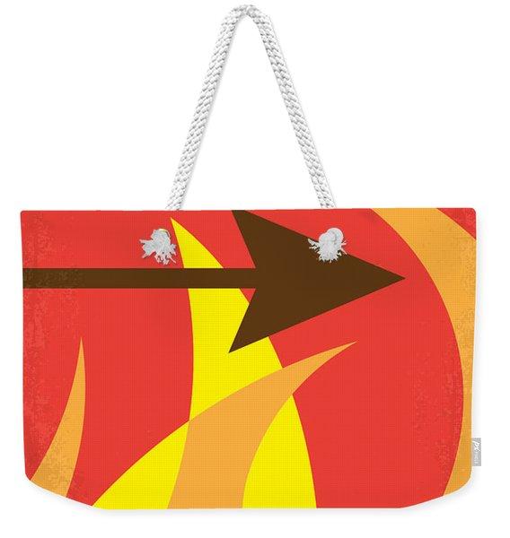 No175 My Hunger Games Minimal Movie Poster Weekender Tote Bag