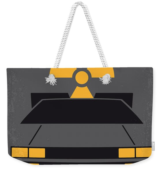 No183 My Back To The Future Minimal Movie Poster Weekender Tote Bag