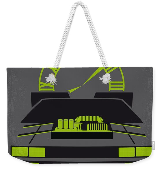 No183 My Back To The Future Minimal Movie Poster-part IIi Weekender Tote Bag