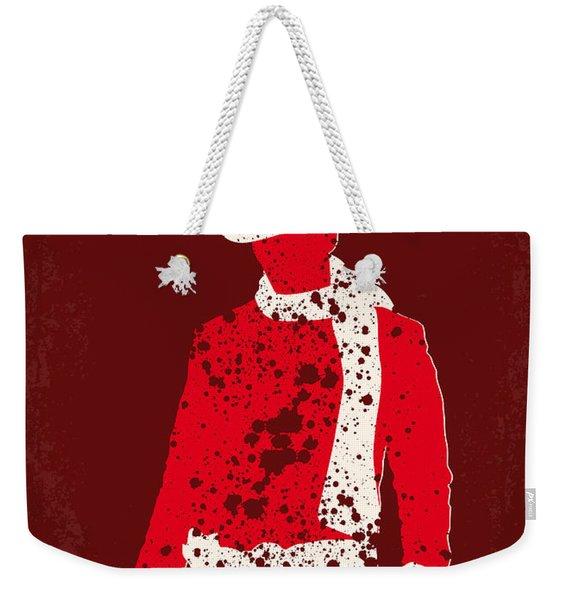 No184 My Django Unchained Minimal Movie Poster Weekender Tote Bag