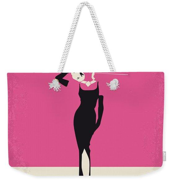 No204 My Breakfast At Tiffanys Minimal Movie Poster Weekender Tote Bag