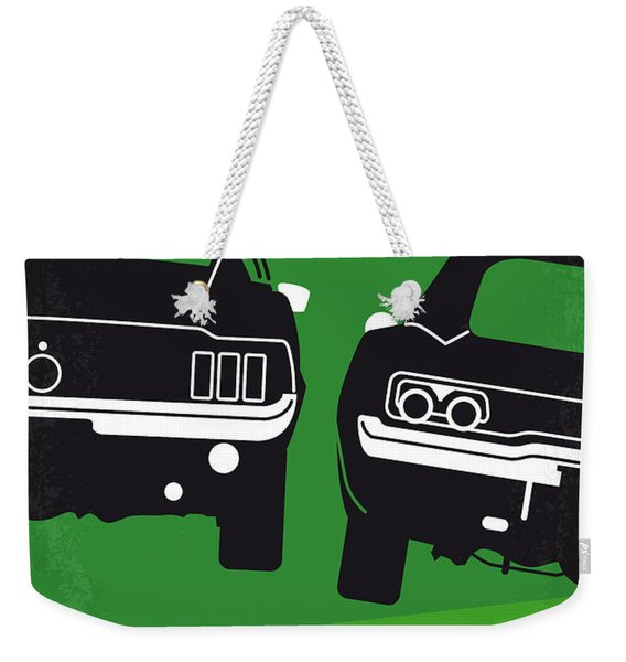 No214 My Bullitt Minimal Movie Poster Weekender Tote Bag