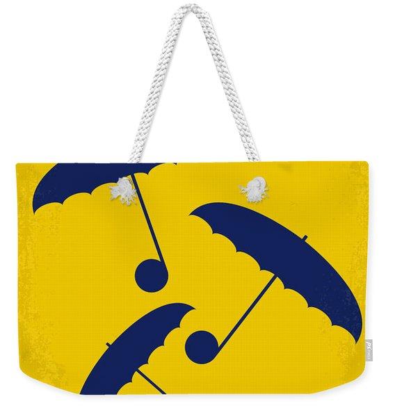 No254 My Singin In The Rain Minimal Movie Poster Weekender Tote Bag