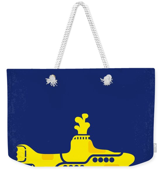 No257 My Yellow Submarine Minimal Movie Poster Weekender Tote Bag