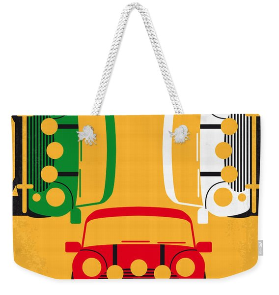 No279 My The Italian Job Minimal Movie Poster Weekender Tote Bag