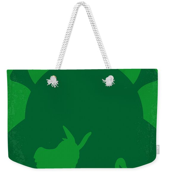 No280 My Shrek Minimal Movie Poster Weekender Tote Bag