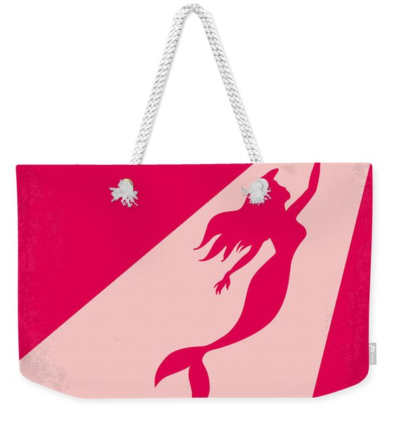 No314 My Mermaid Minimal Movie Poster Weekender Tote Bag
