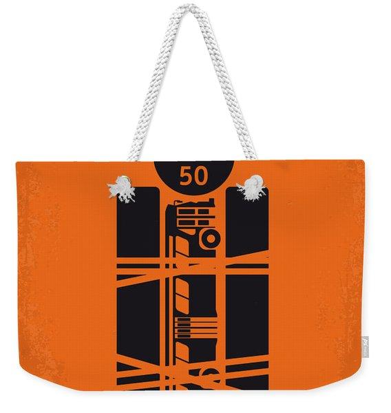 No330 My Speed Minimal Movie Poster Weekender Tote Bag
