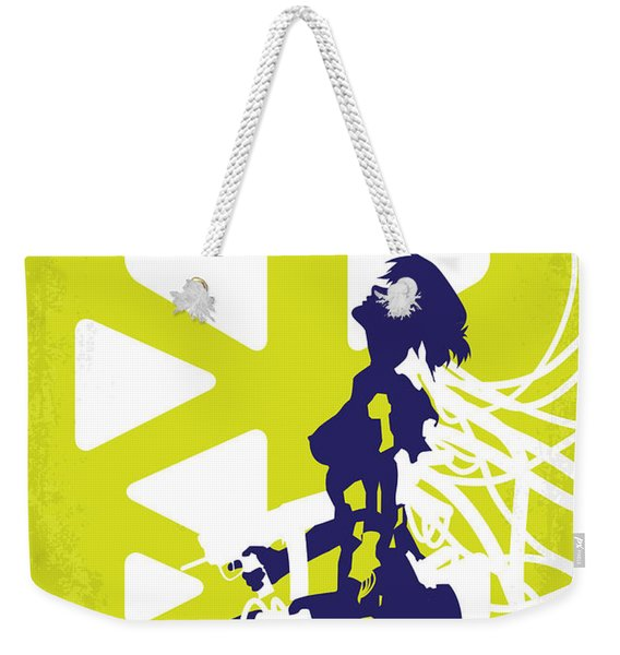 No366 My Ghost In The Shell Minimal Movie Poster Weekender Tote Bag