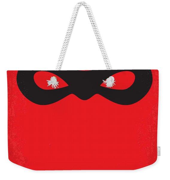 No368 My Incredibles Minimal Movie Poster Weekender Tote Bag