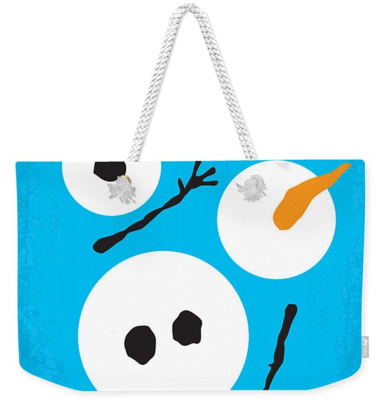 No396 My Frozen Minimal Movie Poster Weekender Tote Bag