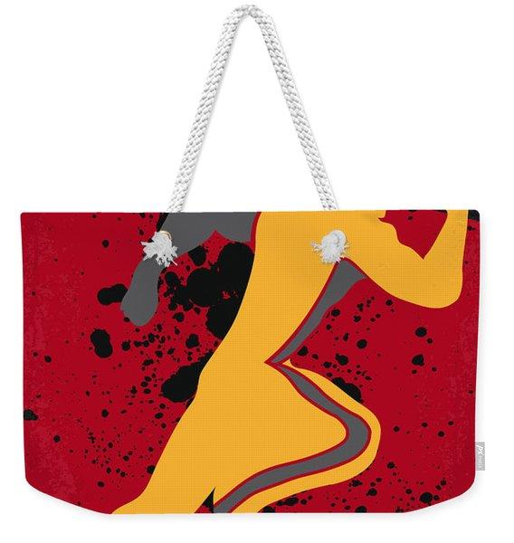 No425 My Running Man Minimal Movie Poster Weekender Tote Bag