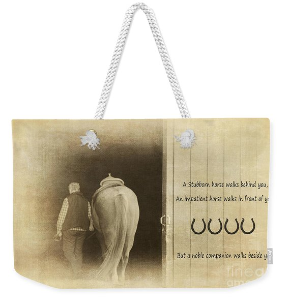 Noble Companion Weekender Tote Bag