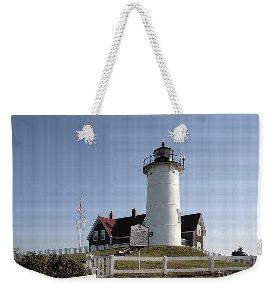 Nobska Lighthouse On Cape Cod At Woods Hole Massachusetts Weekender Tote Bag