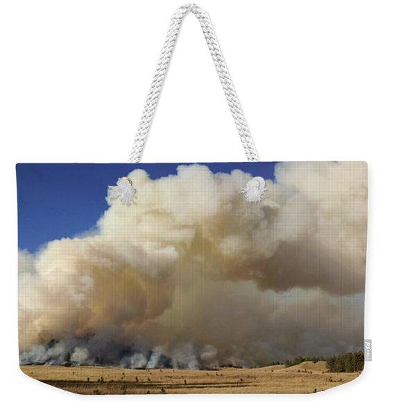 Norbeck Prescribed Fire Smoke Column Weekender Tote Bag