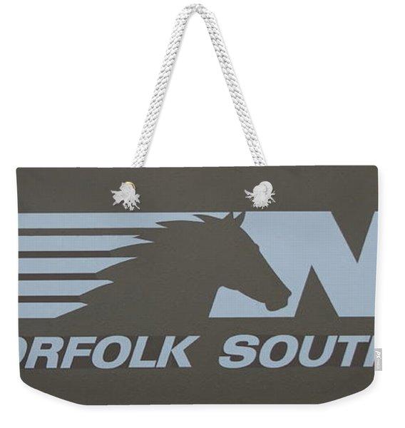 Norfolk Southern Railway Art Weekender Tote Bag